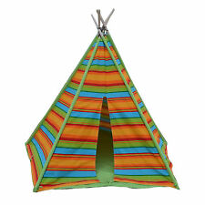5 Pole Large BNIB Kids Teepee Summer Canvas Tent Cubby House Tipi Play Tent