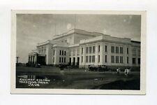 1934 Niederländisch Indien frankierte AK Railwaystation Tandjong Priok Java