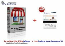 Corner Store POS Retail Software with Free 10x Employee Access Cards