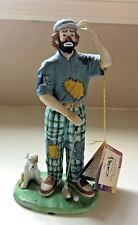 Emmett Kelly, Jr. Flambro Signature Series Figurine - Golfer with Dog