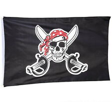 Pirate Flag 3 X 5 Feet Skull And Crossbones Cross Swords Jolly Roger Fast Ship!