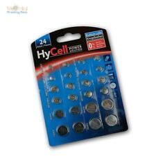 Hycell 24 X Knopfzellen-Sparset - par 2x CR2032 CR2025 CR2016 CR1620 LR41 LR43