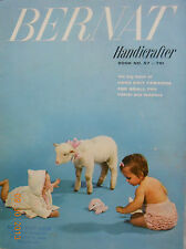 1957 BERNAT HANDICRAFTER HAND KNITS Patterns for Infants & Toddlers