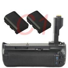 New Battery Grip Holder For Canon EOS 7D SLR Camera +2 LP-E6 as BG-E7