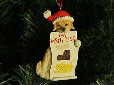 "Dog / Puppy ""Wish List"" Christmas Ornament"