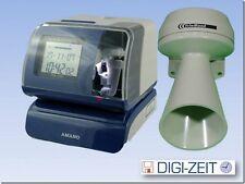 Amano PIX 200 Stempeluhr für Auftragserfassung inkl. Klingel für Pausenzeiten