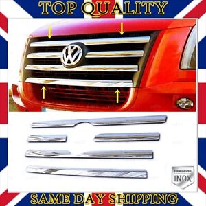Chrome Front Grill 5 pcs S.STEEL For VW CRAFTER from 2006 to 2012