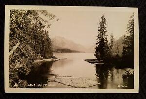 OUTLET-Lake McDonald,Glacier National Park, Montana, RPPC - Postcard @Marble