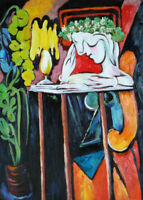 Reading Woman Hand Painted Pablo Picasso Oil Painting On Canvas Wall Art