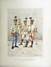 AUSTRIAN ANTIQUE PLATE UNIFORM OF GERMAN/HUNGARIAN INFANTRY BANDSMEN . #7767