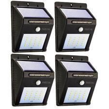 Solar LED Lights Solar Sensor Motion Light 20 LED Outdoor Lamp Waterproof 4 Pack