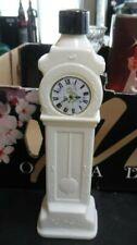 Vintage Avon white milk glass grandfather clock cologne