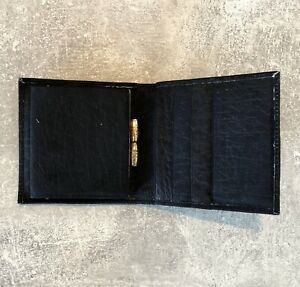 Portamonete, Borsellino, Portamonete IN Pelle - Vintage/Nero #A14