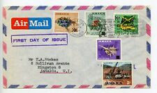 Jamaica 2x covers FDC & commercial + postcard (S925)
