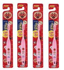 Lion Anpanman Kid's Toothbrush 4Packs 18mon~5years Fron Japan