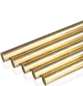 Solid Brass Round Rod Bar Shaft Ø1mm-35mm CNC Metalworking Model Engineer DIY