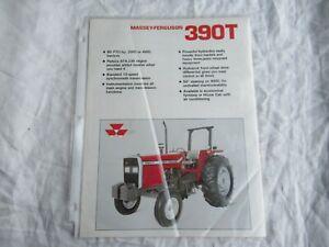 Massey Ferguson MF 390T tractor specification sheet brochure