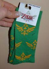 Legends of Zelda Skyward Sword Mens Crew Socks by Bioworld Shoe Size 6-12