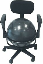 Exercise Ball Chair Yoga Stability Back Posture Fitness Home Office Desk Workout