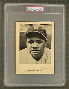 Babe Ruth W603 Sports Exchange All Star Picture File Series 4 Photo 6x8 PSA AUTH