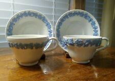 New ListingTwo Wedgwood Etruria & Barlaston Blue Lavender/Cream Coffee/Tea Cup & Saucer