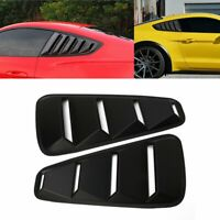 Rear 1/4 Quarter Side Window Louvers Scoop Cover Vent For Ford Mustang 05-14 R&L