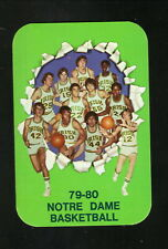 Notre Dame Fighting Irish--1979-80 Basketball Pocket Schedule
