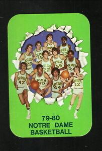 Notre Dame Fighting Irish--1979-80 Basketball Pocket Schedule
