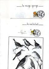 Série oiseaux de 1985 á 1991 avec cachet exposition du 28.09.91 sur feuilles .
