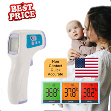 Non-Contact Infrared Digital Forehead Thermometer Baby Adult Temperature Gun DR