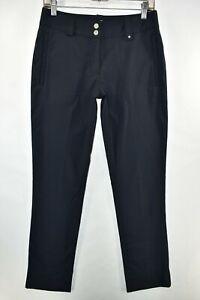 Nike Golf Pants Dri Fit Dry Tour Performance Womens Size 4 Black Meas. 28x31