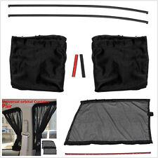 2Pcs Car Sun Shade Front Side Window Curtain Sunshade UV Protection with Tracks