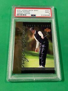 2001 Upper Deck Golf Tiger Woods #TT-1 Tiger's Tale RC PSA 9 MINT PGA CHAMPION!