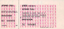 ticket billet unused stub place concert JETHRO TULL 1982 Cambrai FRANCE