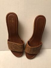 3ce9eb14fd0a Mila Paoli Womens Wedge Sandals Brown Size 10 ( Made In Italy )