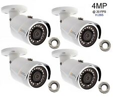Q-See 4 Mp Camera (4-pack) Ip Hd with H.265, Video Poe - 4x Qcn8068Ba