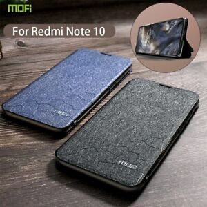 For Xiaomi Redmi Note 10 Pro Case Leather Flip Cover Holder Shockproof NEW Black