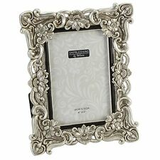 Silver / Crystal / Flower Design Photo Frame.4 sizes Avail.4x6. 5x7. 6x8. 8x10