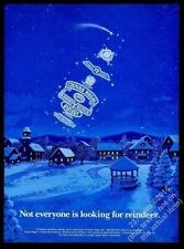 1994 Chivas Regal Scotch Whisky bottle constellation Christmas vintage print ad