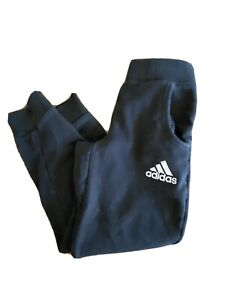 Adidas Boys Youth Solid Black Sweat Pants Joggers Straight Leg Small (8)