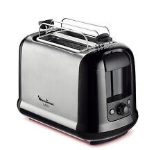 MOULINEX Toaster Subito Brötchenaufsatz 850 W 7 Stufen  Edelstahl schwarz silber