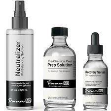 Chemical Skin Peel Kit - Prep Solution + Neutralizer + Recovery Serum
