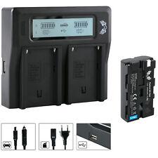 SK Akku für Sony NP-F550 + Dual Charger für Sony NP-F550 | 56009 90105 90302