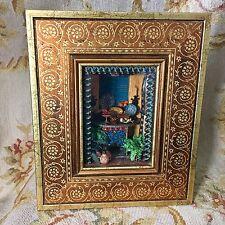 Rainbow Hand Dollhouse Shadow Room Box Vignette Diorama By Kathy & Brian Tepper