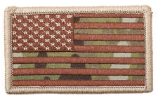 """Multicam Camo Embroidered Patch of USA Flag 2"""" x 3 1/4"""" Made In The USA"""