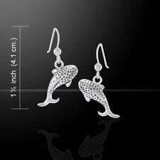 Whale Shark .925 Sterling Silver Earrings by Peter Stone Jewelry