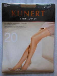 Kunert Satin Look 20 Transparent Shiny Tights Cashmere Calf. Sizes