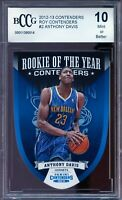 2012-13 Panini Contenders ROY #2 Anthony Davis Rookie Card BGS BCCG 10 Mint