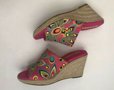 Womens Loudmouth Pink Marlene Wedge 8.5