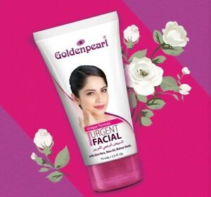GoldenPearl Urgent Facial Tube whitening lightening softening and glowing -75ml
